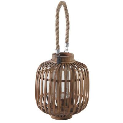 Lanterne bambou et verre  - Luminaires