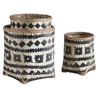Corbeille ronde en bambou  - Paniers & corbeilles