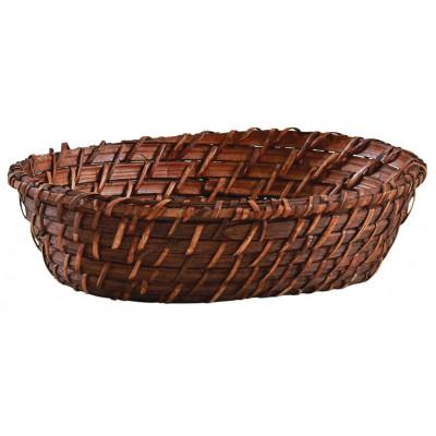 Corbeille en rotin marron ovale  - Paniers & corbeilles