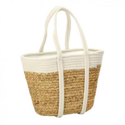 Sac en palmier natte et coton  - Tote-bags et cabas