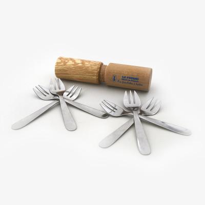 etui bois fourchettes huitre  - Accessoires de cuisine