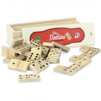 Jeu de dominos en coffret bois  - Jeux en famille