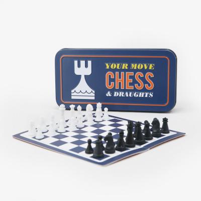 Jeu d'échecs et de dames de voyage  - Jeux de société