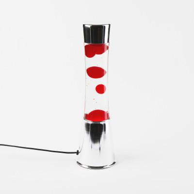 Lampe à lave rouge et argent  - Lampes décoratives