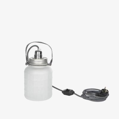 Lampe jarre en verre mat 2L  - Luminaires