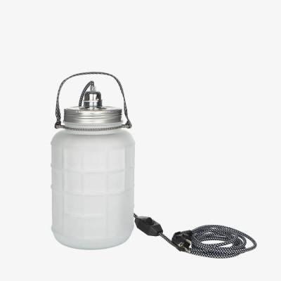 Lampe jarre en verre mat 4L  - Luminaires