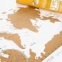 Carte du monde à gratter  - Affiches et cartes