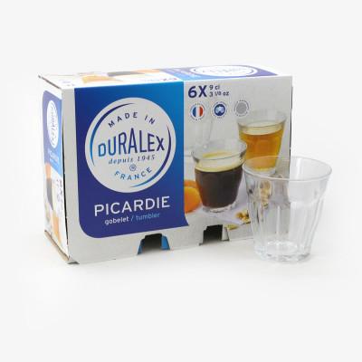 Lot de 6 verres Picardie (9 cL)  - Verrerie