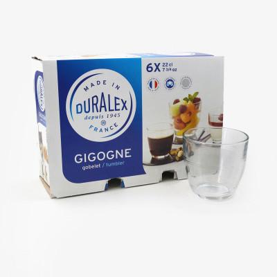 Lot de 6 verres Gigogne (22 cL)  - Verrerie