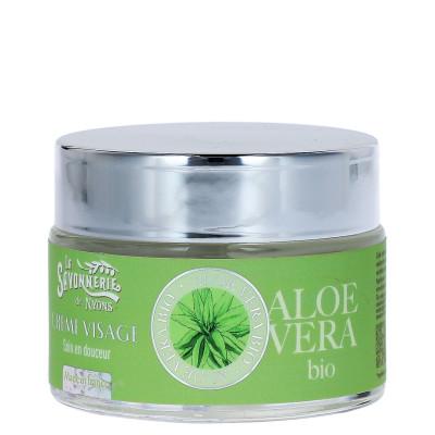 Crème visage à l'aloe vera bio  - Savonnerie